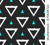 seamless pattern with triangles ... | Shutterstock .eps vector #675638722