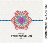 vector abstract for raksha...   Shutterstock .eps vector #675641782
