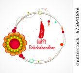 vector abstract for raksha... | Shutterstock .eps vector #675641896