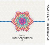 vector abstract for raksha... | Shutterstock .eps vector #675641902