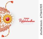 vector abstract for raksha... | Shutterstock .eps vector #675641905
