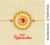 vector abstract for raksha... | Shutterstock .eps vector #675641926