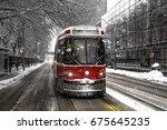 Winter Streetcar Toronto On...