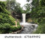 beautiful view of minnehaha... | Shutterstock . vector #675649492