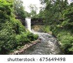 beautiful view of minnehaha... | Shutterstock . vector #675649498