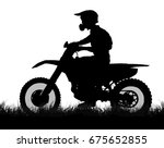 side profile silhouette of off... | Shutterstock . vector #675652855