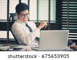businessman working at office...   Shutterstock . vector #675653905