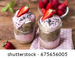 Lilac Smoothie  With Strawberry ...