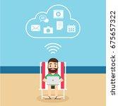 cloud computing technology...   Shutterstock .eps vector #675657322