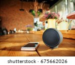 Small photo of Bluetooth speaker with smart phone