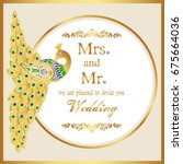 wedding invitation or card with ...   Shutterstock .eps vector #675664036