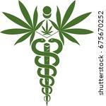 medical marijuana  cannabis... | Shutterstock .eps vector #675670252