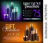 premium beauty discount gift....   Shutterstock .eps vector #675670942