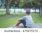 young asian boy stay alone and...   Shutterstock . vector #675675172