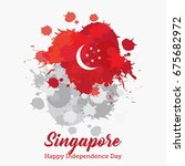 singapore independence day... | Shutterstock .eps vector #675682972