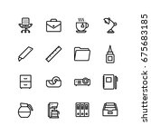 office business icon set | Shutterstock .eps vector #675683185