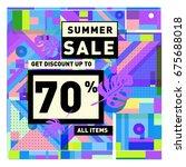 summer sale beautiful web... | Shutterstock .eps vector #675688018