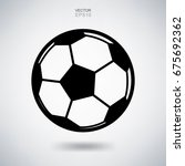 vector football or soccerball...