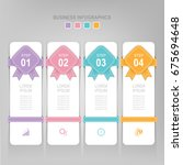 infographic template of four...   Shutterstock .eps vector #675694648