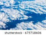 clouds and blue sky. view from... | Shutterstock . vector #675718606