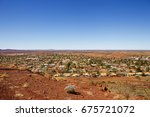 newman  outback mining town in...   Shutterstock . vector #675721072