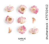 Garlic. Tropical Abstract...