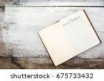 holy bible closeup. holy bible... | Shutterstock . vector #675733432