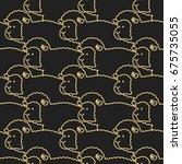 Black Sheep Pattern. Ewe...