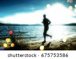 film grain effect. silhouette... | Shutterstock . vector #675753586