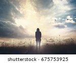 world environment day concept ... | Shutterstock . vector #675753925