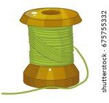 spool of threads  cartoon... | Shutterstock .eps vector #675755332