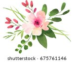 watercolor bohemian flower... | Shutterstock . vector #675761146