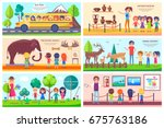 visit to antique museum ... | Shutterstock .eps vector #675763186