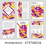 abstract vector layout... | Shutterstock .eps vector #675768226
