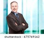 mature businessman portrait in...   Shutterstock . vector #675769162