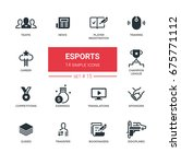 esports   set of vector icons ... | Shutterstock .eps vector #675771112