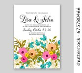 anemone rose ranunculus wedding ...   Shutterstock .eps vector #675780466