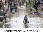 Small photo of Iriga City, Philippines - December 2016: Typhoon Nina aftermath