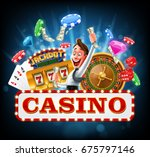 winner casino | Shutterstock .eps vector #675797146