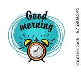 vector illustration of alarm... | Shutterstock .eps vector #675806245