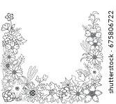 vector illustration of flower... | Shutterstock .eps vector #675806722