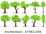 set of trees on white... | Shutterstock .eps vector #675811246
