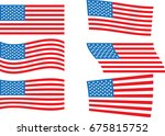 illustration of wavy american... | Shutterstock .eps vector #675815752