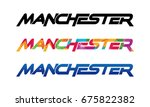 manchester logo vector | Shutterstock .eps vector #675822382