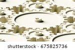 design element. 3d illustration.... | Shutterstock . vector #675825736