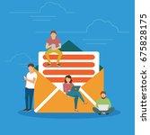 symbol newsletter concept... | Shutterstock .eps vector #675828175