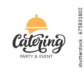 catering vector logo badge with ... | Shutterstock .eps vector #675831802