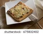 pizza toast with cheese and... | Shutterstock . vector #675832402
