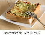 pizza toast with cheese and... | Shutterstock . vector #675832432