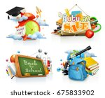 school and education concepts.... | Shutterstock .eps vector #675833902